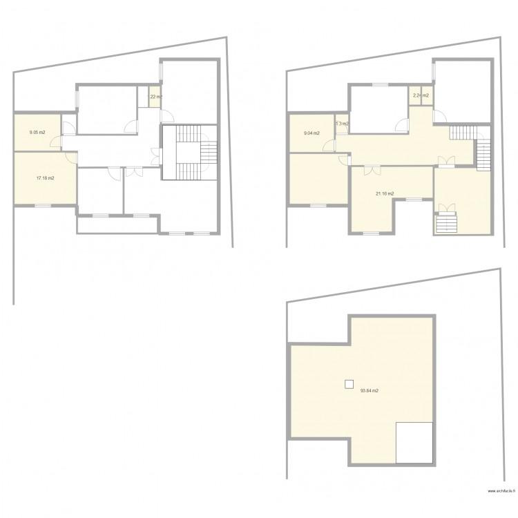 Plan maison 5 plan 9 pi ces 221 m2 dessin par hassem149 for Plan de maison 5 pieces