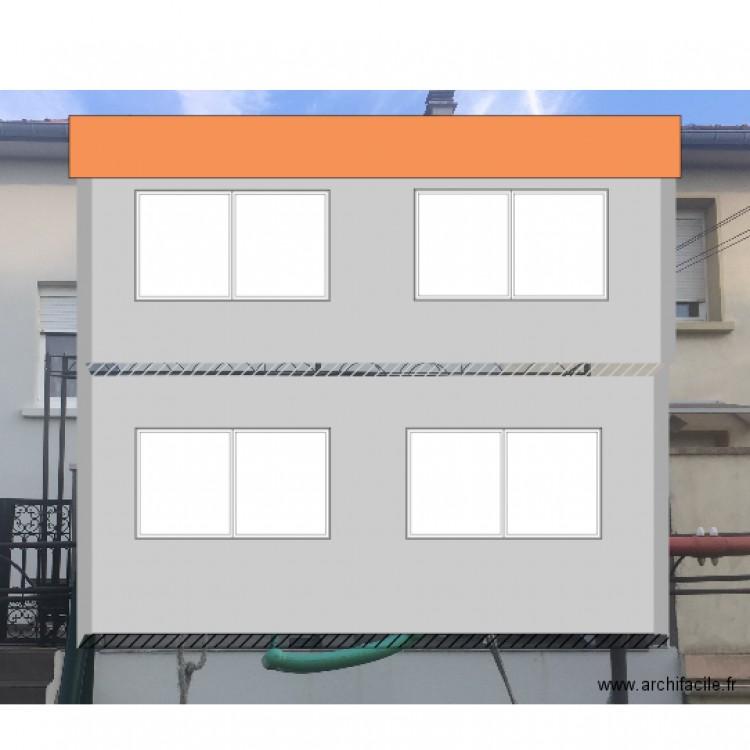 extension fa ade nord plan 2 pi ces 53 m2 dessin par faridh57. Black Bedroom Furniture Sets. Home Design Ideas