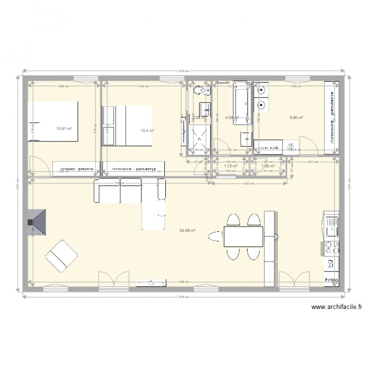 Maison Phenix Perso Avec Meubles Plan 8 Pieces 99 M2 Dessine Par Christine20270