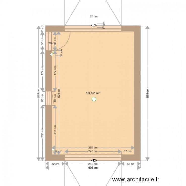 Agrandissement maison plan 1 pi ce 19 m2 dessin par matmalo for Agrandissement maison plan