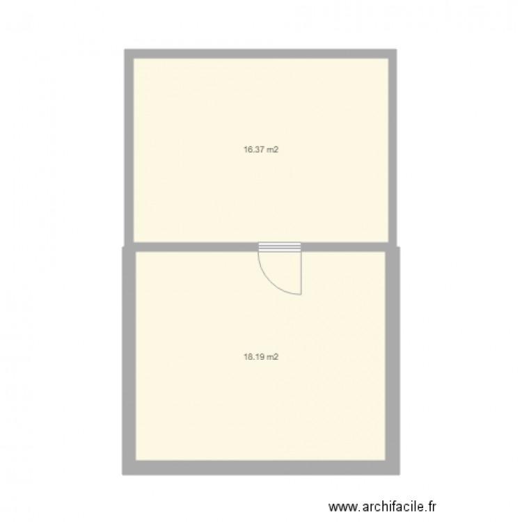 appart plan 2 pi ces 35 m2 dessin par riad2000. Black Bedroom Furniture Sets. Home Design Ideas