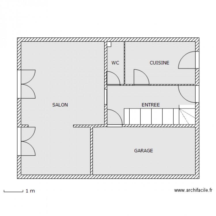 plan maison 63 m2