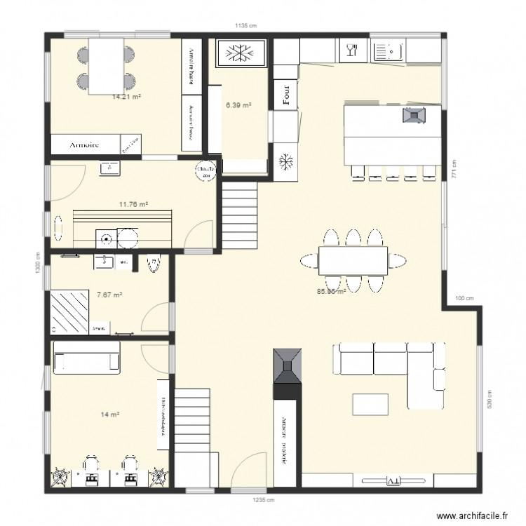 Ma maison plan 6 pi ces 140 m2 dessin par dinedine94 for Dessine ma maison gratuitement