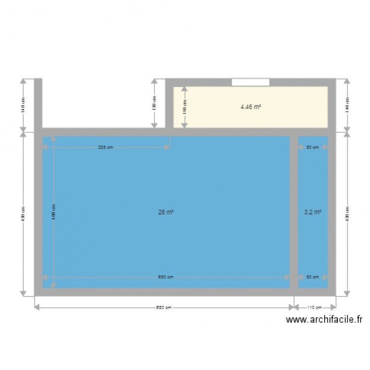 Piscine 6x4 plan 3 pi ces 34 m2 dessin par david69640 for Piscine enterree 6x4