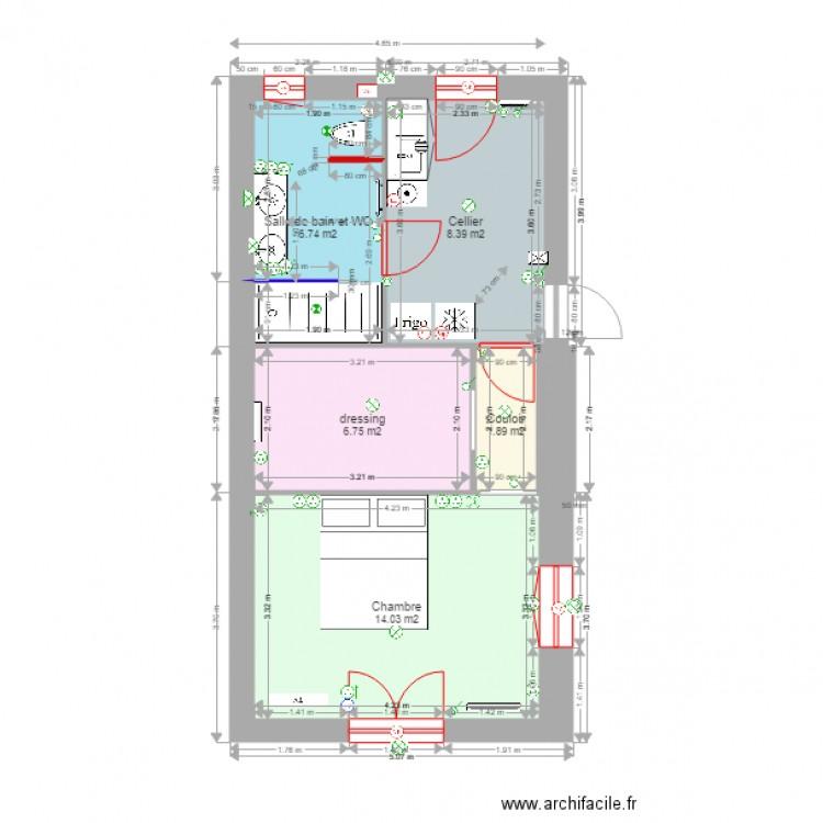 Applique Salle De Bain Avec Interrupteur : extension 4 pièces 38m hab12 sept électricité – Plan 5 pièces 38 …