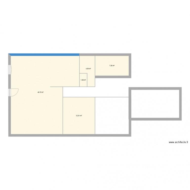 Maison lugos plan 5 pi ces 75 m2 dessin par mamamuchi for Plan de maison 5 pieces