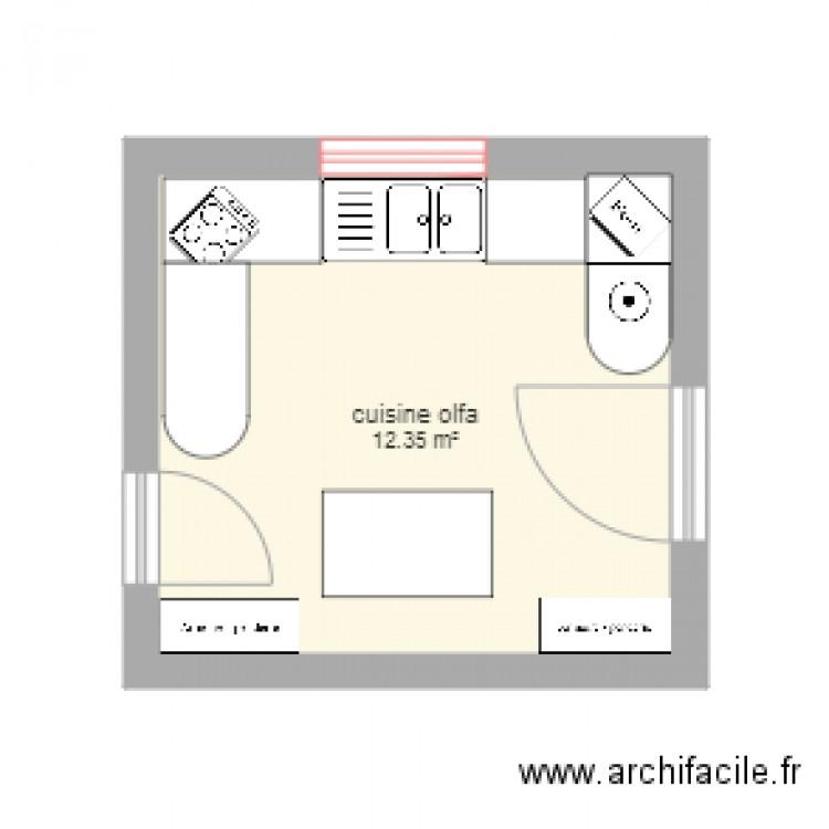 Cuisine olfa 1 plan 1 pi ce 12 m2 dessin par manna92 for Cuisine olfa