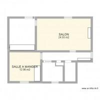 Plan maison et appartement de 2 pi ces de 36 40 m2 - Plan de maison 2 pieces ...