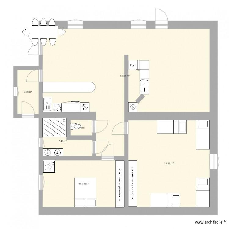 Picholjoguet plan 6 pi ces 120 m2 dessin par cayolle - Plan appartement 120 m2 ...