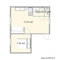 Plan amenagement studio 25m2 photos de conception de maison - Amenagement studio 25m2 ...
