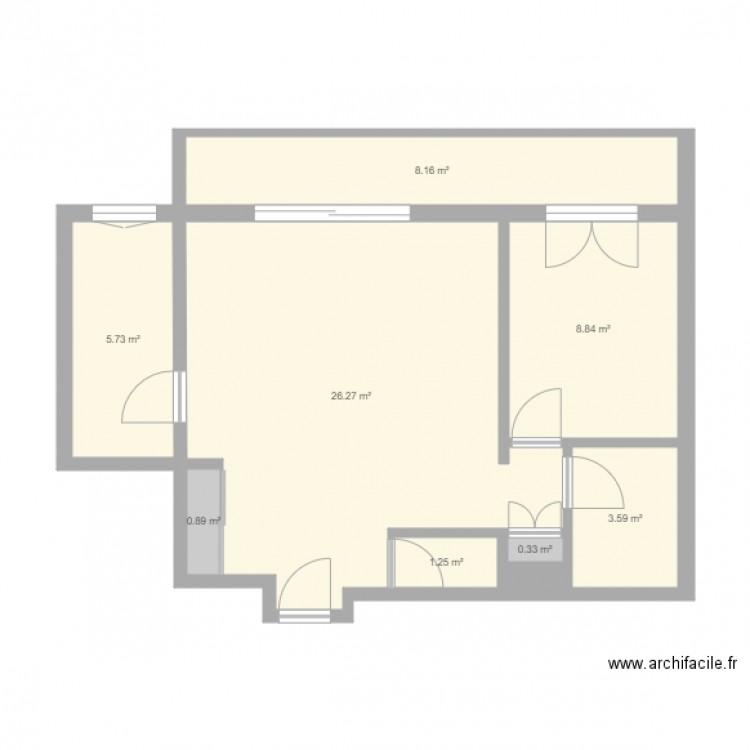 143 oberkampf travaux plan 9 pi ces 55 m2 dessin par osivia for Piscine oberkampf