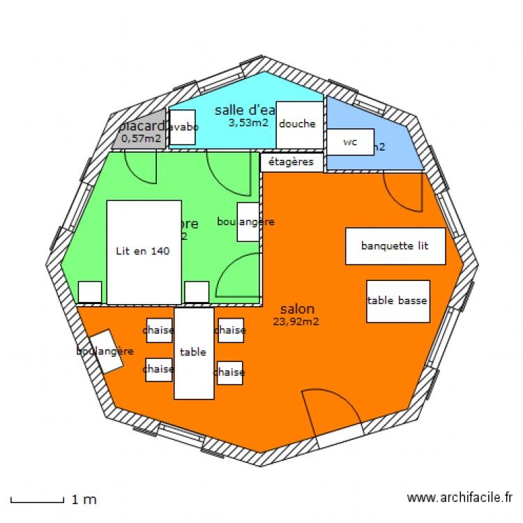 plan maison octogonale