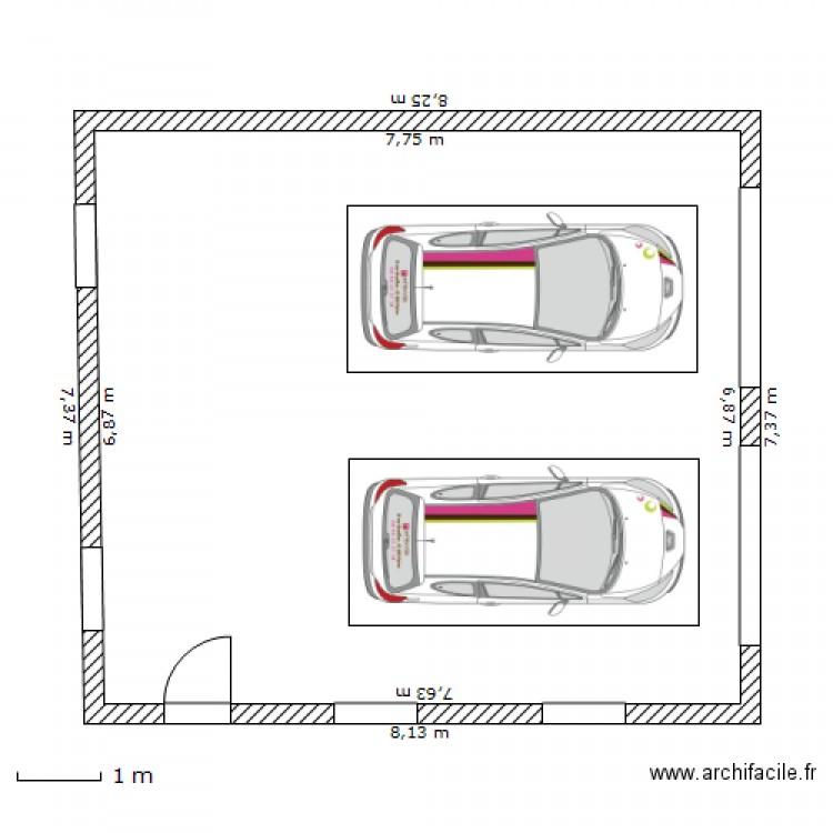 Garage ext rieur plan 1 pi ce 53 m2 dessin par hleroux for Pare etincelle pour foyer exterieur