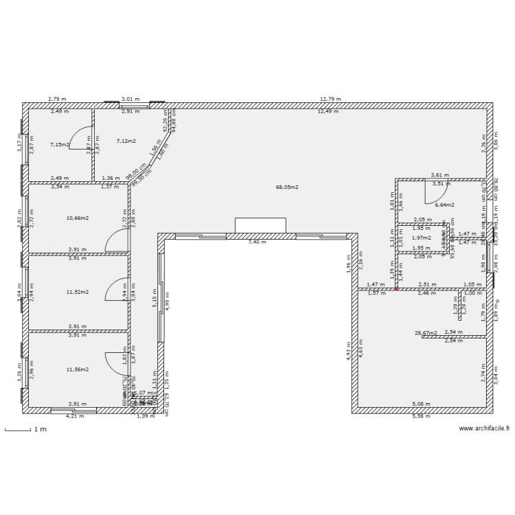 Plans Maisons En U Affordable Maison Pro Modele Plain Pied U