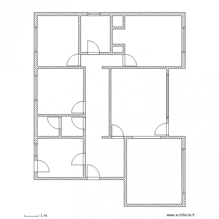 merigneux strasbourg plan 11 pi ces 115 m2 dessin par lcd 67. Black Bedroom Furniture Sets. Home Design Ideas