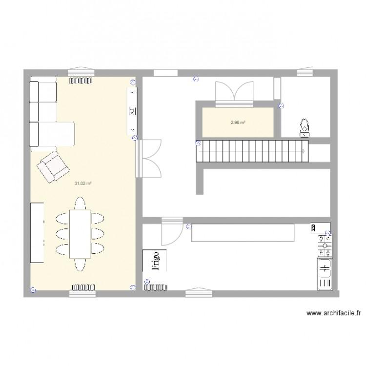 Ma maison plan 2 pi ces 34 m2 dessin par erwan59600 for Dessine ma maison gratuitement