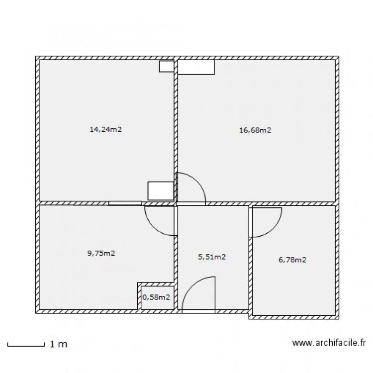 Appartement 3 combles projett s plan 6 pi ces 54 m2 dessin par abdel95340 - Plan appartement 120 m2 ...