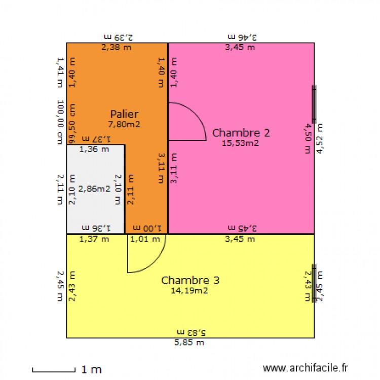 Petite Maison 1er Etage Plan 4 Pièces 40 M2 Dessiné Par