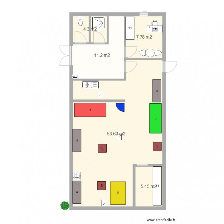 Laboratoire p tisserie orelie plan 5 pi ces 82 m2 - Plan de cuisine professionnelle ...