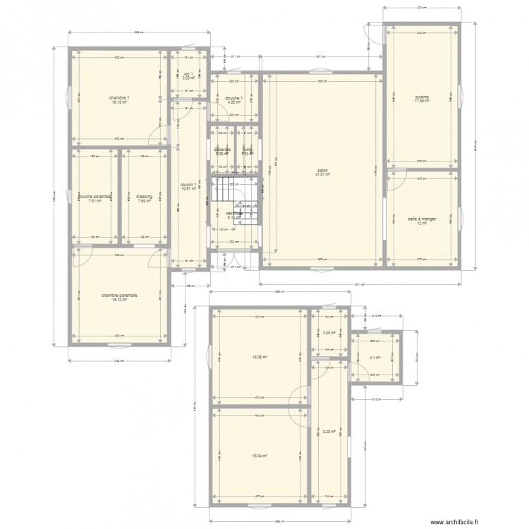 Ma maison 9 plan 18 pi ces 195 m2 dessin par reivilo1981 for Dessine ma maison gratuitement