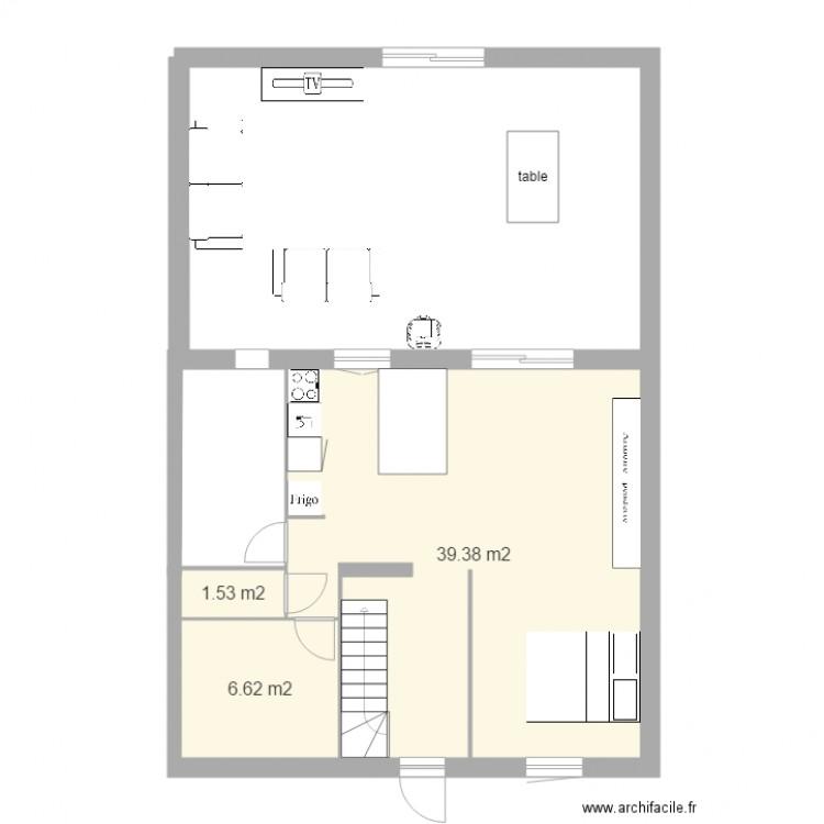 Plan Maison Avec Chambre En Bas  Plan  Pices  M Dessin Par