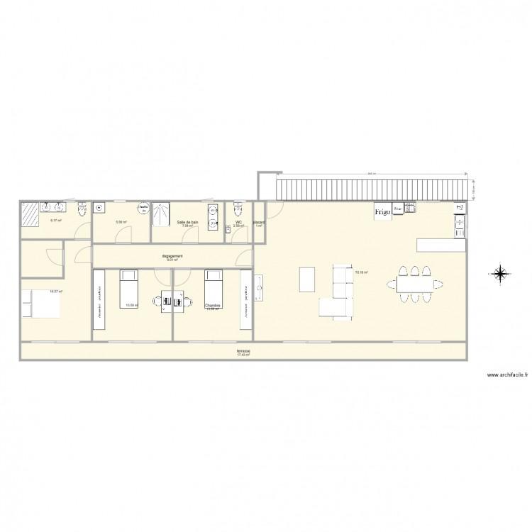 Maison 2 plan 11 pi ces 163 m2 dessin par nico13b - Plan de maison 2 pieces ...