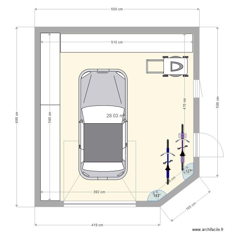 garage plan 1 pi ce 25 m2 dessin par stomyz84. Black Bedroom Furniture Sets. Home Design Ideas
