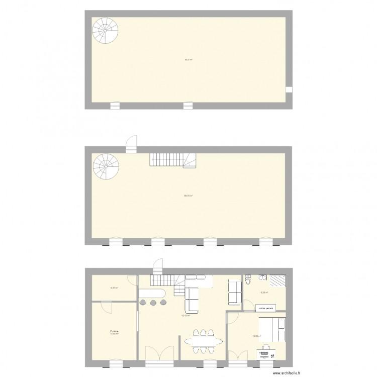 Ma maison r nov e plan 7 pi ces 267 m2 dessin par baroud57 for Dessine ma maison gratuitement