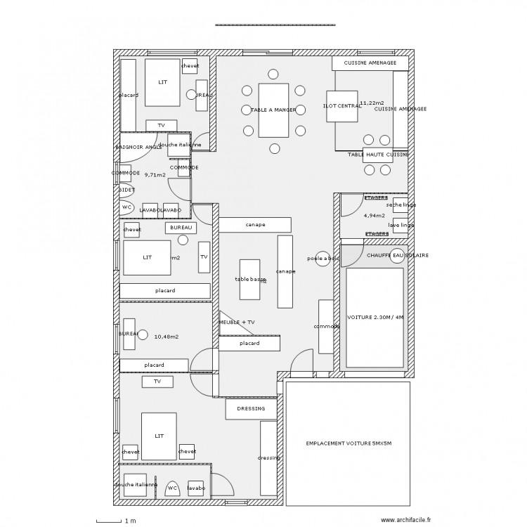 plan maison 5 m de large