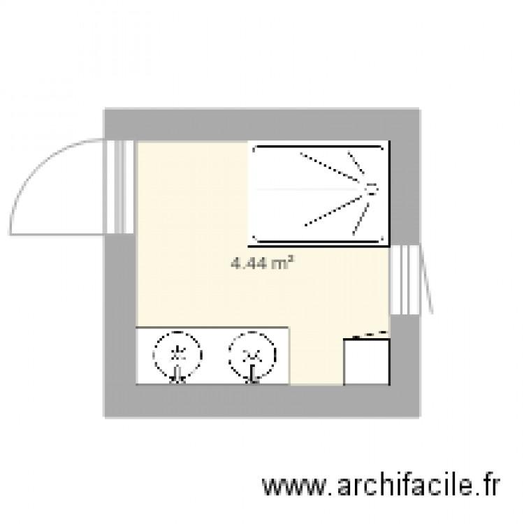 Salle de bain plan 1 pi ce 4 m2 dessin par laurent 31 for Salle de bain 4 m2
