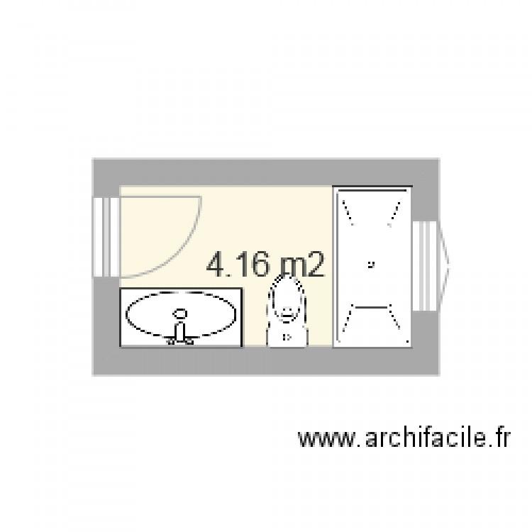Salle de bain plan 1 pi ce 4 m2 dessin par marc c l for Salle de bain 4 m2