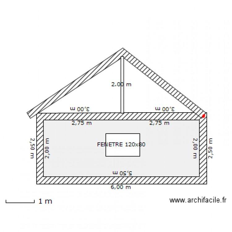Plan de coupe garage cote ouest plan 1 pi ce 11 m2 for Plan de coupe de maison