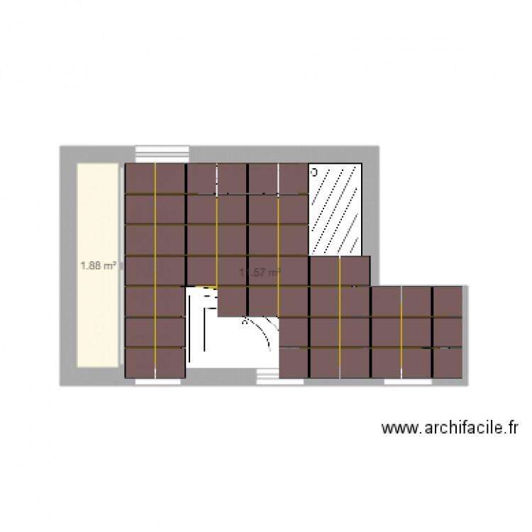 salle de bain 5 plan 2 pi ces 13 m2 dessin par cris47300. Black Bedroom Furniture Sets. Home Design Ideas