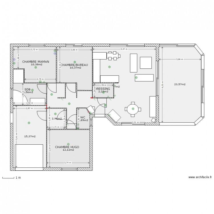 Ma maison plan 10 pi ces 127 m2 dessin par gamibou for Dessine ma maison gratuitement