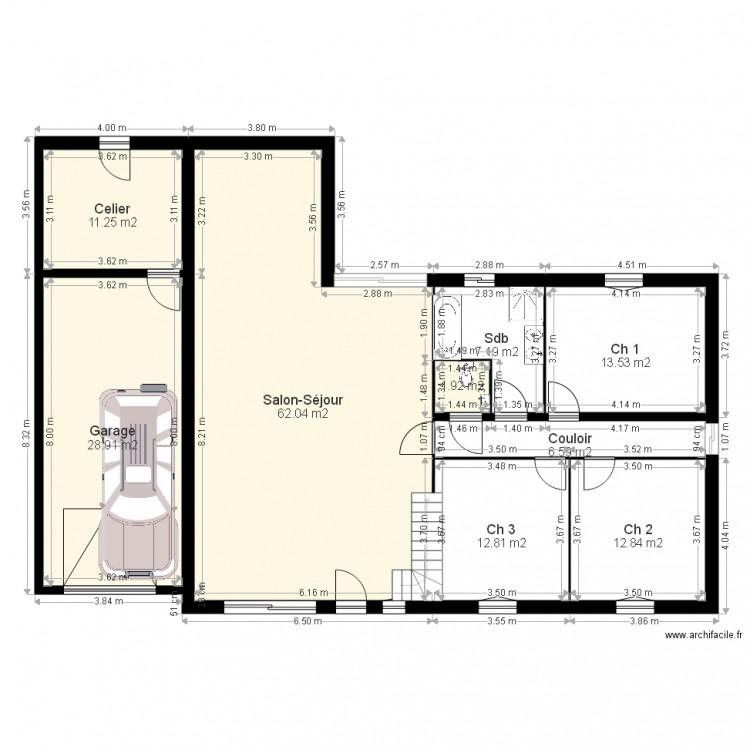Plan maison 2 plan 9 pi ces 157 m2 dessin par skysoft 22 for Taille moyenne maison