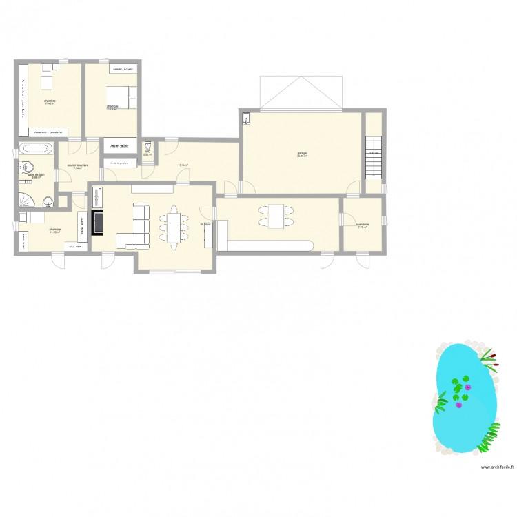 Maison des grands parents plan 12 pi ces 189 m2 dessin for Dessine mes plans de maison