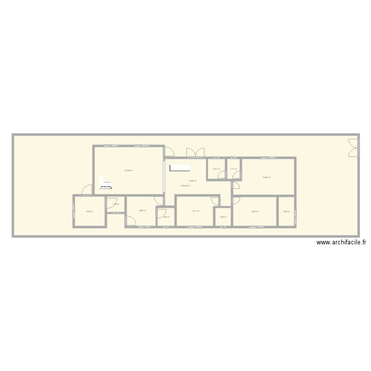 etienne esquisse plan 14 pi ces 301 m2 dessin par dupays. Black Bedroom Furniture Sets. Home Design Ideas