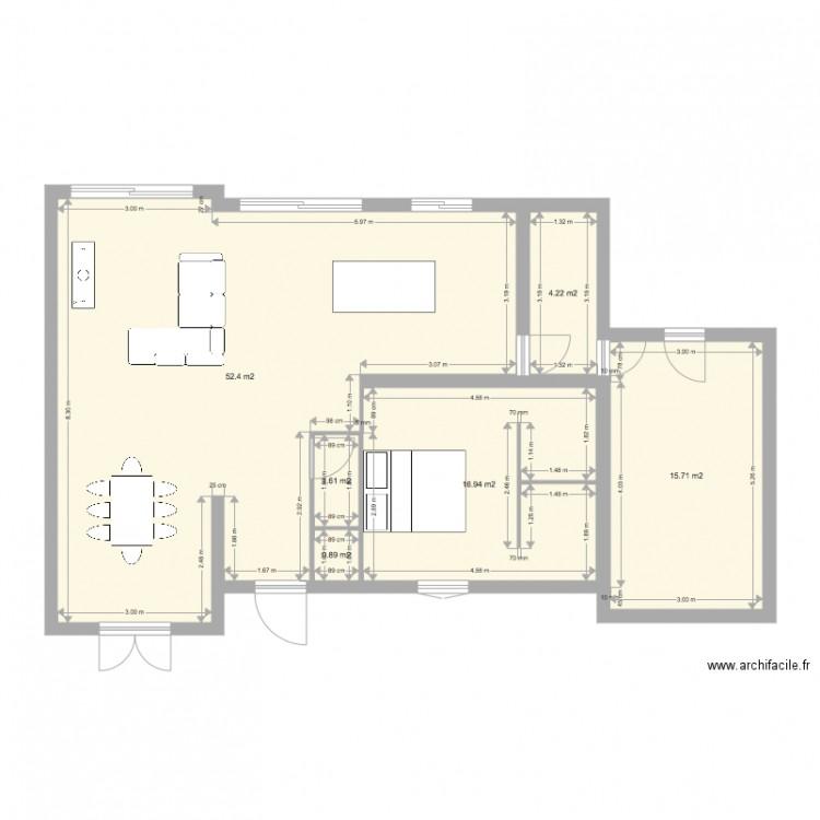 Plan Maison 2 Plan 6 Pi Ces 92 M2 Dessin Par Jiji89