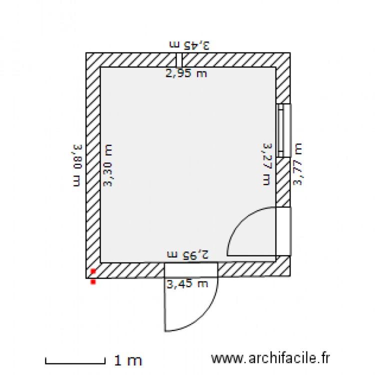 cuisine 200312 plan 1 pi ce 10 m2 dessin par sansphil. Black Bedroom Furniture Sets. Home Design Ideas