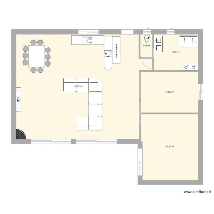 Maison implantation rdc plan 5 pi ces 113 m2 dessin par for Plan implantation maison