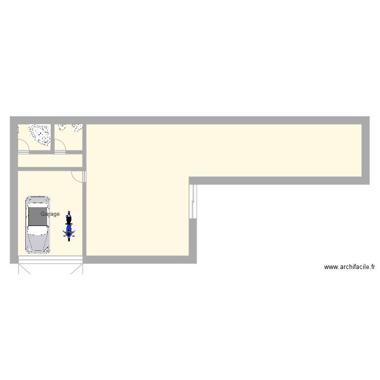 Maison handicap s plan 2 pi ces 49 m2 dessin par dexemple for Plan de maison pour handicape