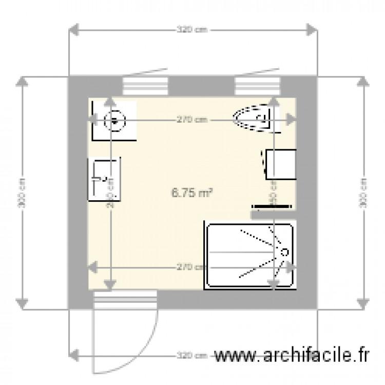 sdb plan 1 pi ce 7 m2 dessin par jmledarz. Black Bedroom Furniture Sets. Home Design Ideas