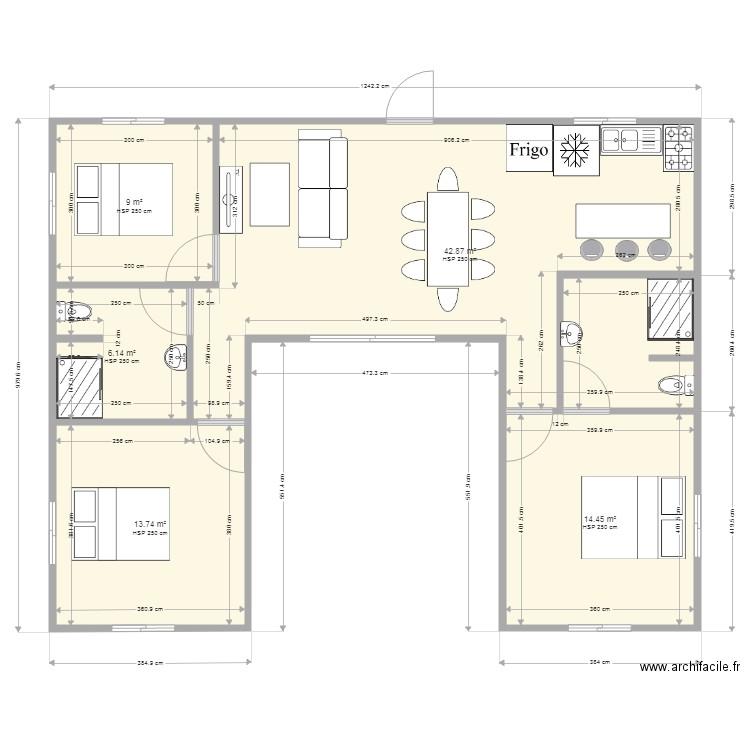 Plan De Maison En U 100m2
