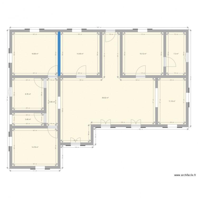 maison plein pied 110m2 plan 10 pi ces 146 m2 dessin par domtom50. Black Bedroom Furniture Sets. Home Design Ideas