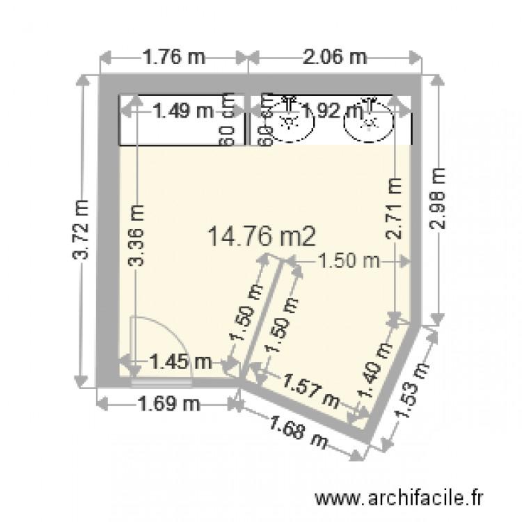 Salle de bain plan 1 pi ce 15 m2 dessin par scoubidou17 for Salle de bain 6 5 m2