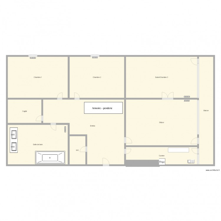 plan de appartement f4