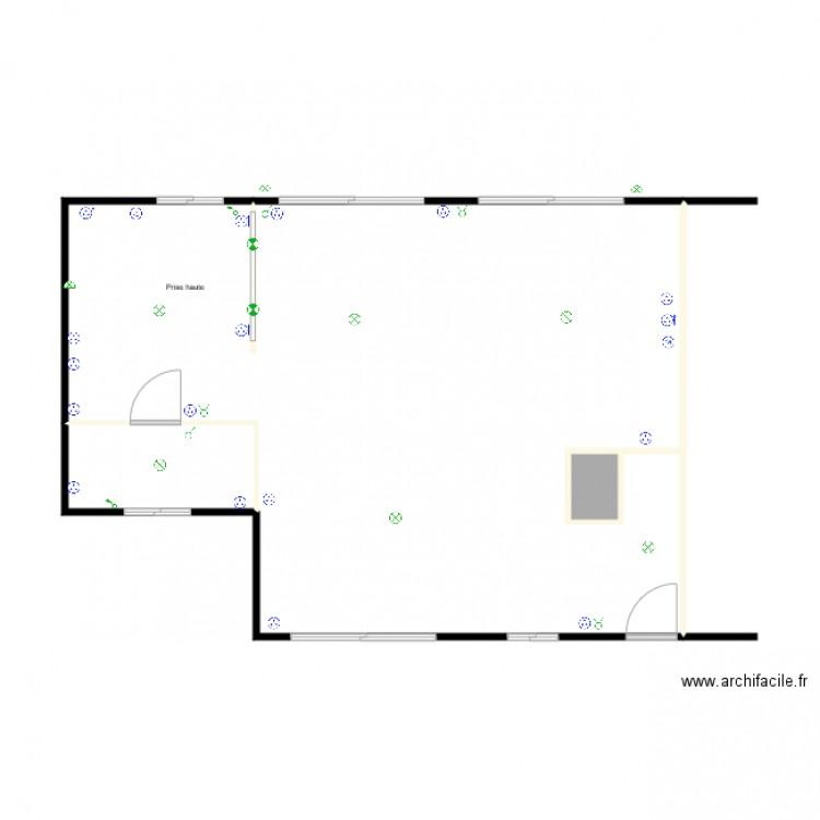 pi ce vie sans ech electricite plan 3 pi ces 60 m2. Black Bedroom Furniture Sets. Home Design Ideas