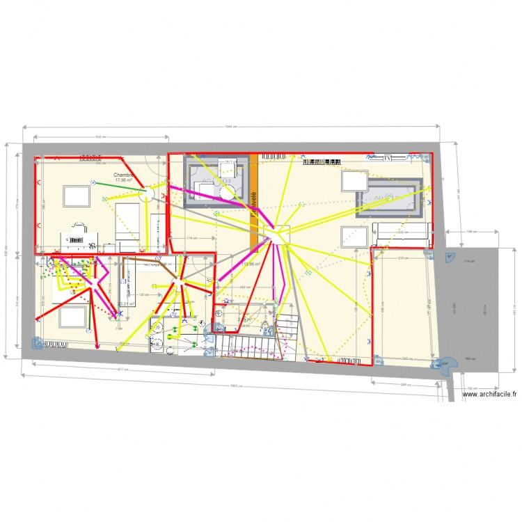 Plan r novation blanchet comble plan 6 pi ces 174 m2 dessin par - Plan renovation maison ...
