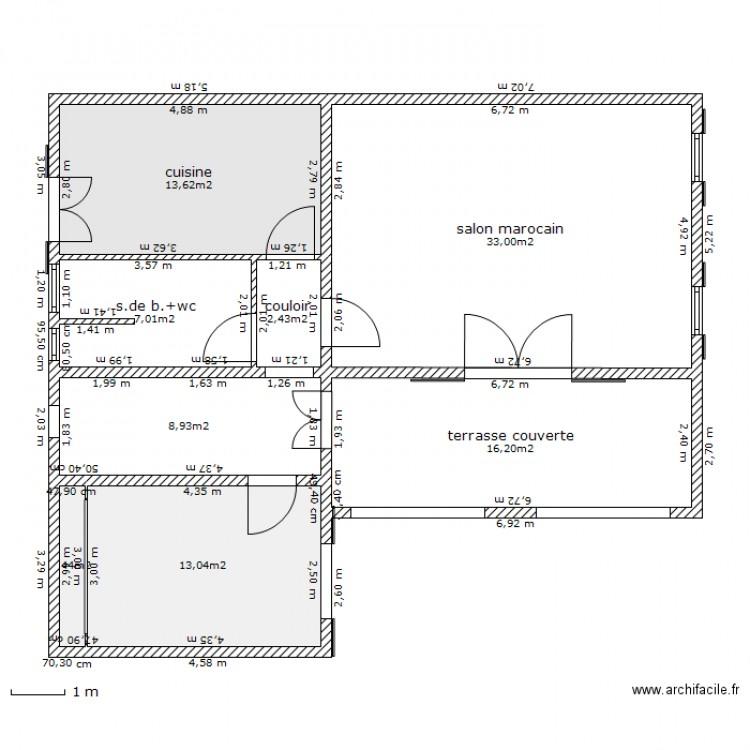 Maison Au Maroc 2 Plan 8 Pièces 96 M2 Dessiné Par Robi1
