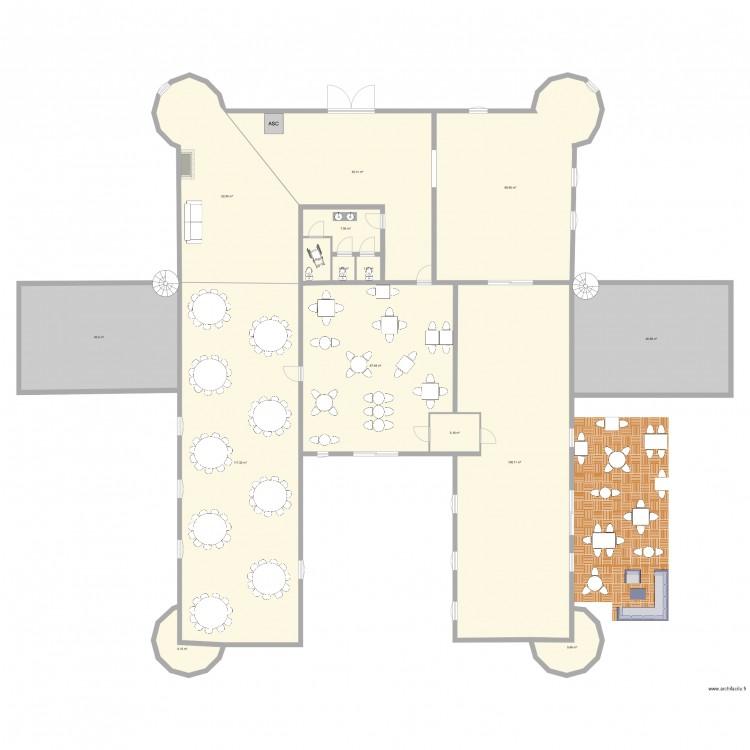 Plan h tel des chevalier plan 15 pi ces 592 m2 dessin for 592 plan